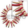 Elastic Red/nat. White Coco Coco Bracelets
