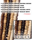 4-5mm Coco Pokalet Natural Coco Beads Coconut Necklace