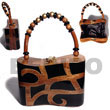 Fashion Collectible Handcarved Laminated Acacia Acacia Bags