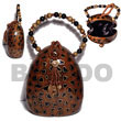 Collectible Handcarved Laminated Acacia Acacia Bags
