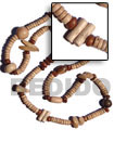 "Fashion ""Bohemian""- Asstd. Wood Beads Long Bohemian Necklace"