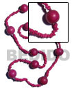 4-5mm Pink Coco Square Long Bohemian Necklace
