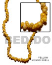 Yellow Mongo Shell Beads