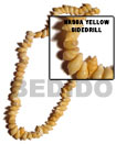 Nassa Yellow Shell Beads