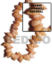 Philippines Shell Beads Orange Frog Shell Beads - Shell Fashion Online Shopping Store SFAS036SPS