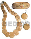 natural wood jewelry Set Jewelry