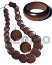 stained brown wooden jewelry Set Jewelry