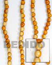 Red Wood Beads Wooden Necklaces
