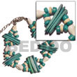2 Rows Aqua Green Shell Bracelets