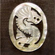 Oval Dragon Carving 45mm Shell Pendant