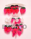 "Philippines Wind Chimes Shell Fashion Wind Chimes Jewelry S.d.t. W/ 1'/2"" Strawberry Capiz Shells Wind Chime Natural Shell Component SFAS010CC"