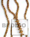 Bayong Saucer Wood Beads Wooden Necklaces