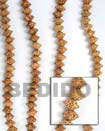 Fashion Bayong Saucer Wood Beads Wooden Necklaces