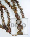 Fashion Robles Sidedrill Disc Wood Beads Wooden Necklaces
