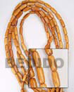Fashion Bayong Oval Wood Beads Wooden Necklaces