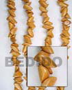 Fashion Bayong Chunk Wood Beads Wooden Necklaces